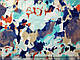 Трикотаж вискозный акварельный бриз, ментол, фото 2