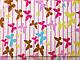Трикотаж вискозный бабочки на полоске, белый, фото 2