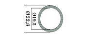 Шайбы форсунок Common Rail Bosch. 220 шт. 22,8х19,5 мм. 1,34-1,76 мм.