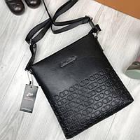 290e4948cba9 Мужская сумка-планшетка Salvatore Ferragamo черная экокожа через плечо  унисекс Сальваторе Феррагамо реплика