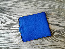 Портмоне стандарт кожаное цвета электра, фото 2