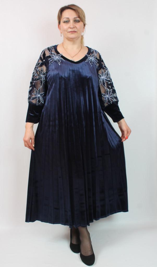 7bb8e55a Длинное плиссированное платье, большие размеры 52-64: продажа, цена ...