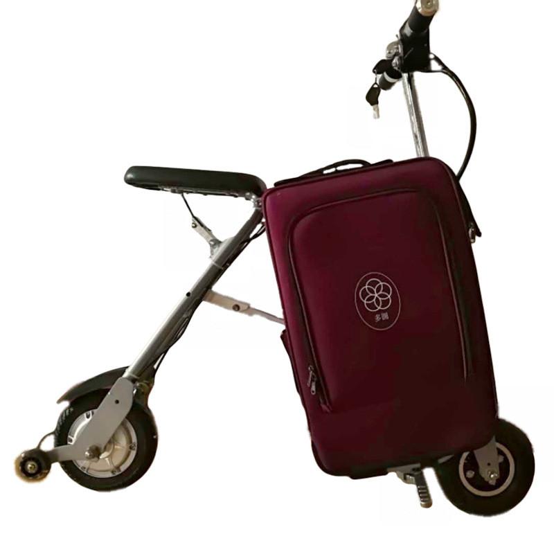 """Электроскутер-багажник,2 в 1.Складной компактный электро велосипед-багажная сумка 8""""/36V/8А."""