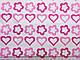 Коттон-поплин стрейчевый сердечки на белом фоне, фото 2