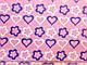 Коттон-поплин стрейчевый сердечки на коралловом фоне, фото 2