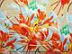 Коттон сатин рисунок летний бриз, бежевый, фото 3