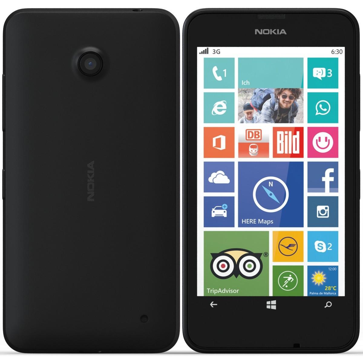 Задняя крышка с боковой кнопкой для смартфона Nokia Lumia 630, 635 черная