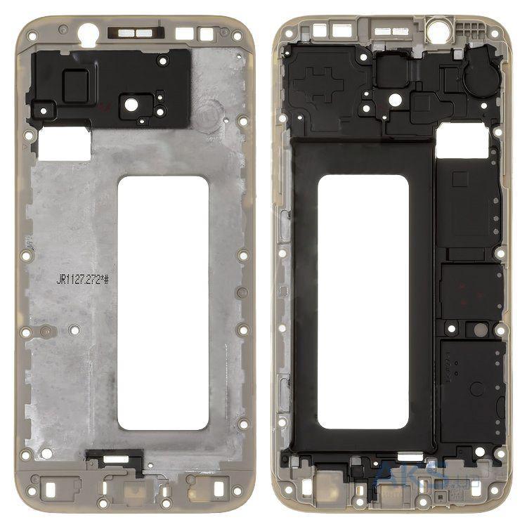 Рамка кріплення дисплея для смартфону Samsung J530F Galaxy J5 (2017), золотиста