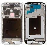 Рамка крепления дисплея для смартфона Samsung i9500 Galaxy S4 серебристая