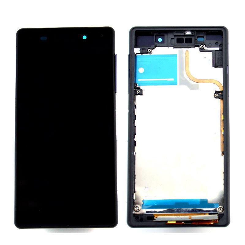 Рамка кріплення дисплея для смартфону Sony Xperia Z2 D6502, D6503 чорна
