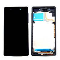 Рамка крепления дисплея для смартфона Sony Xperia Z2 D6502, D6503 черная