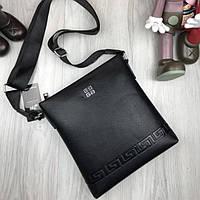 Брендовая женская сумка планшетка  Givenchy черная через плечо кожа PU унисекс Живенши люкс реплика