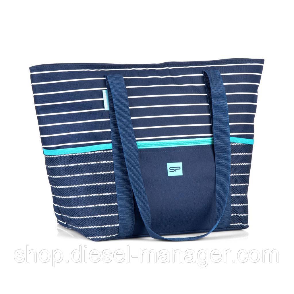 Пляжная термосумка Spokey Levante 53x21x34 см Темно-синий (s0387)