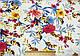 Штапель рисунок цветочная сказка, белый, фото 2