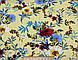 Штапель рисунок цветочная сказка, желтый, фото 2