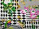 Ткань штапель рисунок микс орнаментов, сиреневый, фото 2