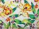 Штапель рисунок цветочный орнамент, салатовый, фото 2