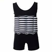 Купальникпоплавок для мальчиков Safe baby swim XL Черный в полоску, КОД: 213113