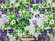 Ткань коттон стрейчевый рисунок летняя акварель, пудра, фото 3