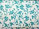 Коттон стрейчевый рисунок цветочная нежность, голубой, фото 2