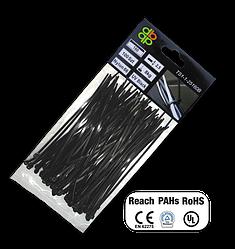 Стяжки кабельные пластиковые, UV, BLACK, 3,6*200 мм, TS1136200B