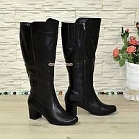 Сапоги женские кожаные на невысоком каблуке. Батал! 38 размер 3869bdfd5350c