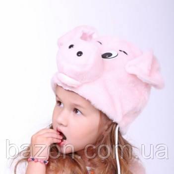 Детская маскарадная шапочка Поросёнок
