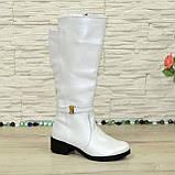 Белые демисезонные сапоги на байке. 37 размер, фото 2