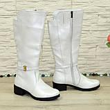 Білі демісезонні чоботи на байку. 37 розмір, фото 3
