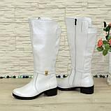 Білі демісезонні чоботи на байку. 37 розмір, фото 4
