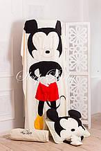 """Детский флисовый комплект плед и подушка """"Мики"""" L плед (200*150) подушка (50*70)"""