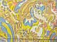 Французская вискоза принт абстракция, желтый, фото 2