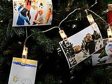 Гирлянда-прищепка на 20 лампочек (электрическая), фото 2