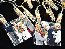 Гирлянда-прищепка на 20 лампочек (электрическая), фото 3