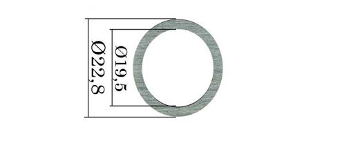Шайбы форсунок Common Rail Bosch. 390 шт. 22,8х19,5 мм, 1,512-1,628 мм