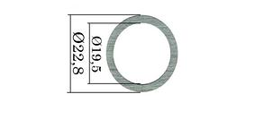 Шайбы форсунок Common Rail Bosch. 390 шт. 22,8х19,5 мм, 1,512-1,628 мм, фото 2