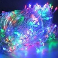 Гирлянды 100LED (Диод) Red / Green / Blue / Yellow, 8 метров, 5 режимов, прозрачная изоляция, BOX