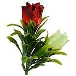 Букет бутонов роз атласных с пышной зеленью, 56см, фото 2
