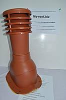 Вентиляционные и кровельные выходы KRONO-PLAST KBW Ral 8004 Ø 125  для металлочерепицы (высокий профиль)