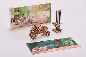 Конструктор  деревянный Велосипед. Wood trick пазл. 100% ГАРАНТИЯ КАЧЕСТВА!!! (Опт,дропшиппинг)