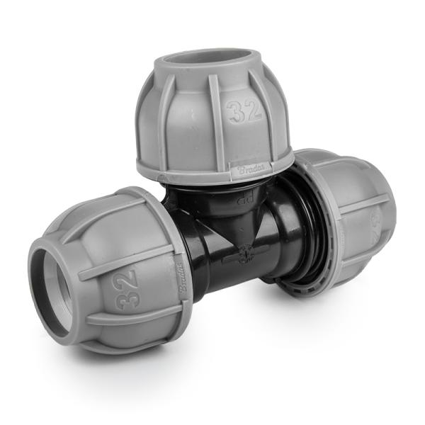 Тройник для труб PE, 40 / 25 / 40 мм, PN10, DSRA10T4025