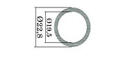 Шайбы форсунок Common Rail Bosch. 200 шт. 22,8х19,5 мм, 1,41-1,6 мм