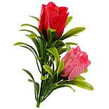 Букет бутонов роз атласных с пышной зеленью, 56см, фото 5