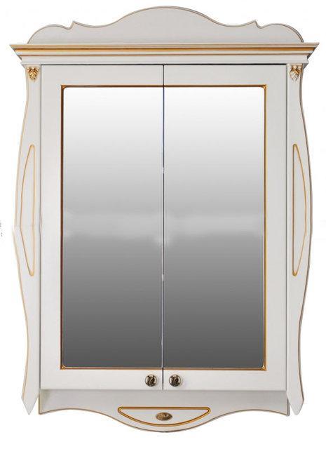 Шкаф зеркальный Атолл (Ольвия) Ривьера dorato