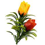 Букет бутонов роз атласных с пышной зеленью, 56см, фото 6