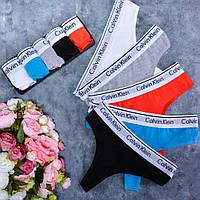 Набор брендовых женских стрингов. ТОП качество!!!Реплика., фото 1