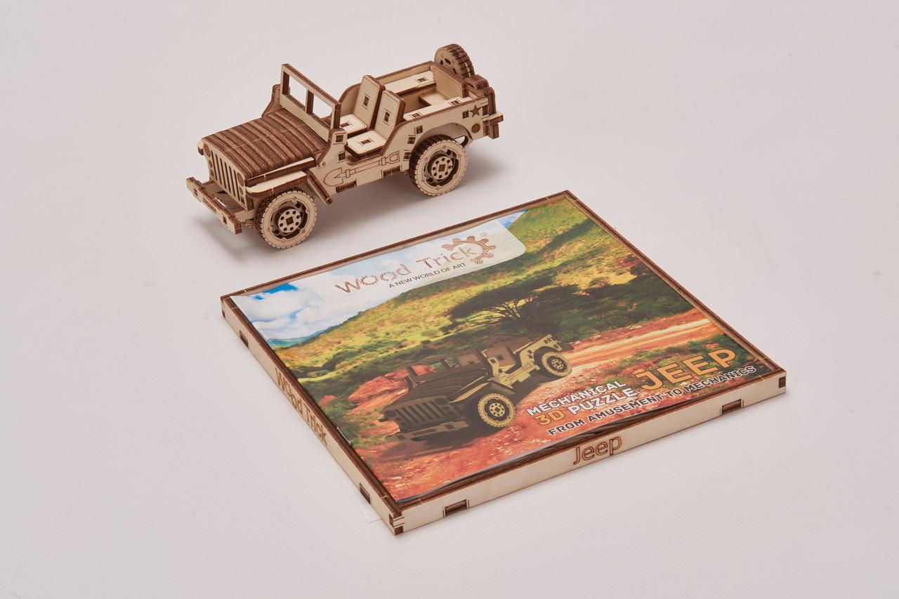 Конструктор  деревянный Джип. Wood trick пазл машинка. 100% ГАРАНТИЯ КАЧЕСТВА!!! (Опт,дропшиппинг)
