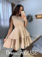 Платье коктейльное красивое в стиле baby doll с пышной юбкой неопрен Smsa2895, фото 1
