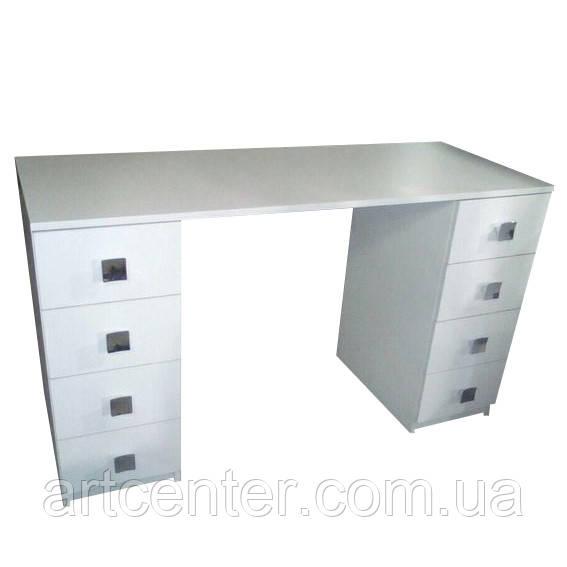 Стіл для манікюру двотумбовий, манікюрний стіл