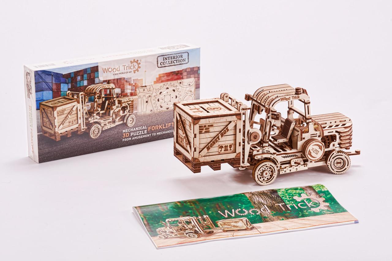 Конструктор деревянный Погрузчик 3D. Wood trick пазл. 100% ГАРАНТИЯ КАЧЕСТВА!!! (Опт,дропшиппинг)